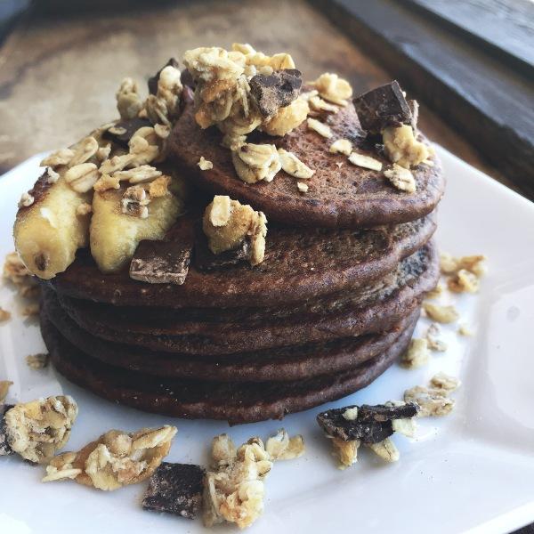 Pancakes fondant au chccolat