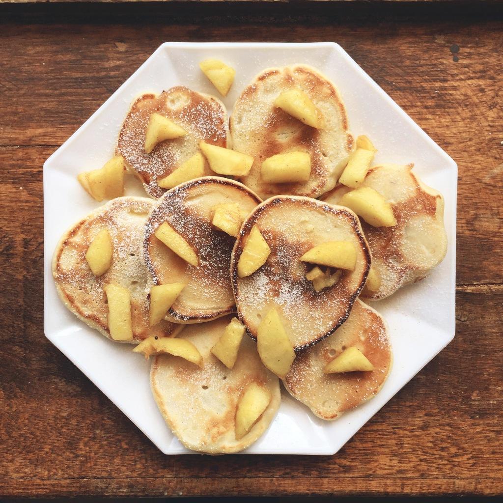 Pancakes fourrés aux pommes