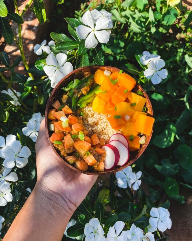 Salade de quinoa et de mangues